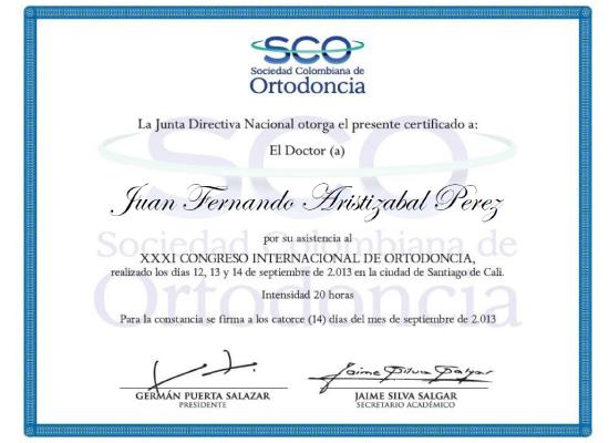 XXXI congreso internacional de ortodoncia
